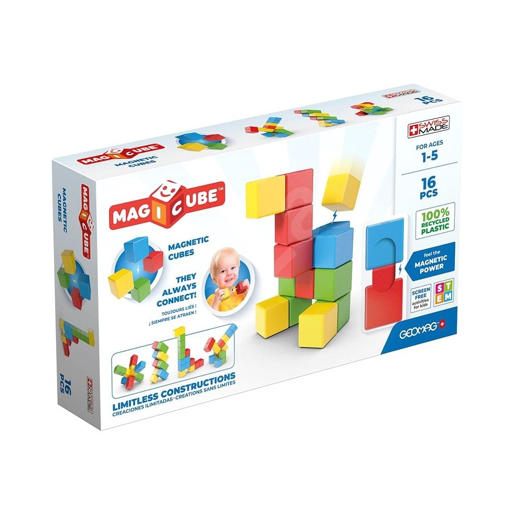 GEOMAG WORLD MAGICUBE FULLCOLOR RECYCLED TRY ME 16 PEZZI 067