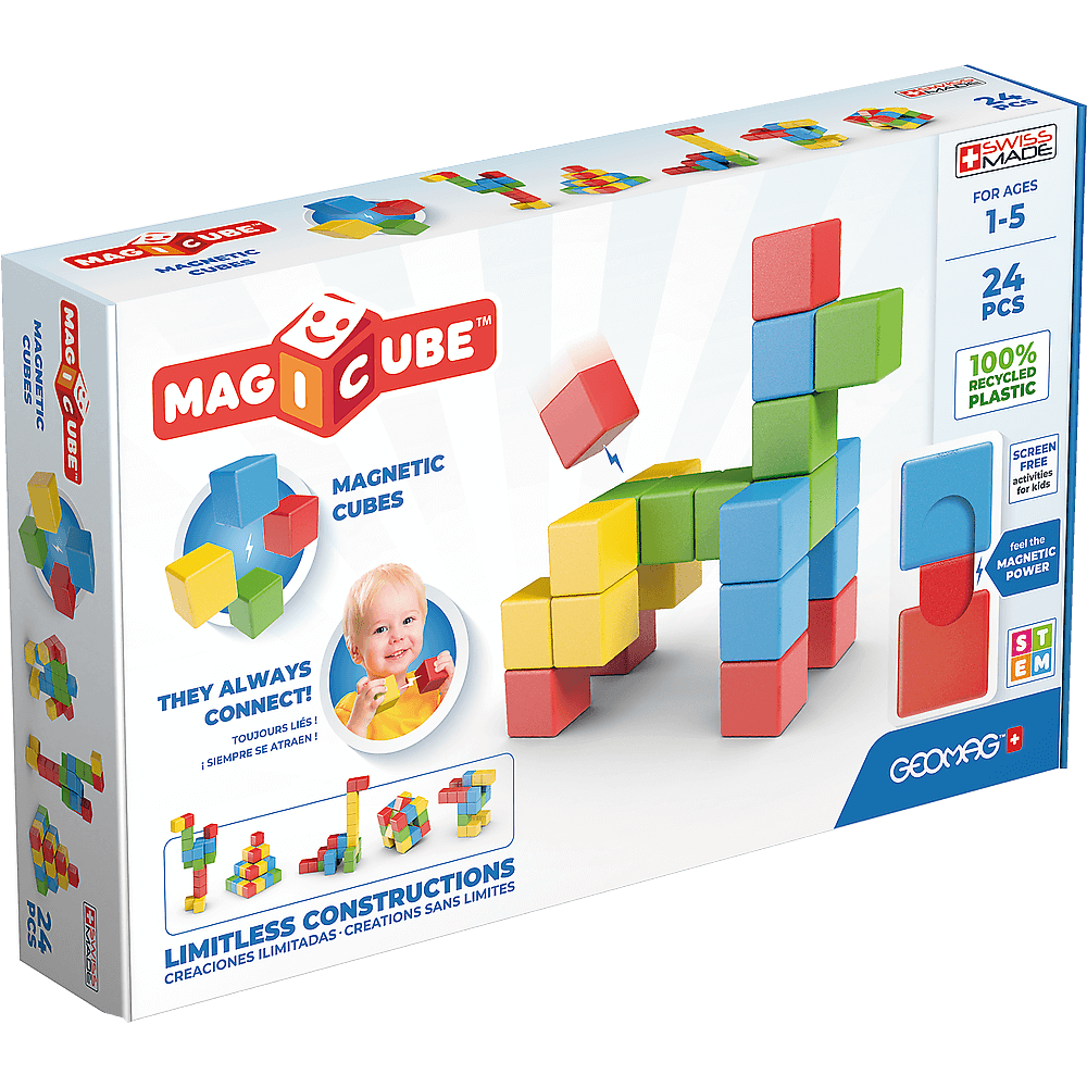 GEOMAG WORLD MAGICUBE FULL COLOR RECYCLED TRY ME 24 PEZZI 068