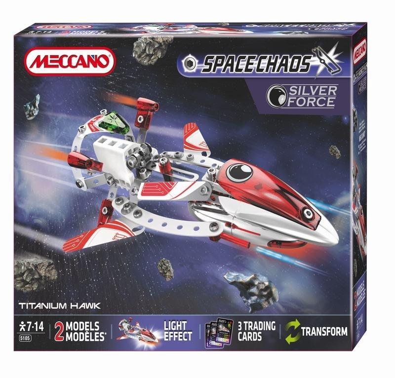 MECCANO SPACE CHAOS TITANIUM HAWK SILVER FORCE 805105