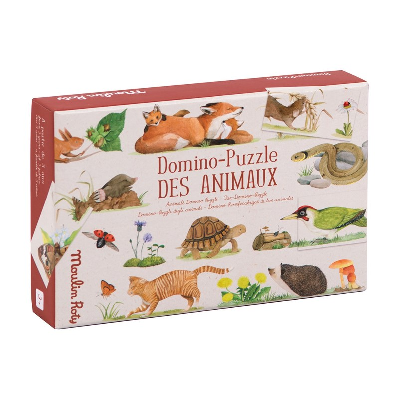 MOULIN ROTY  DOMINO-PUZZLE ANIMALI 712419