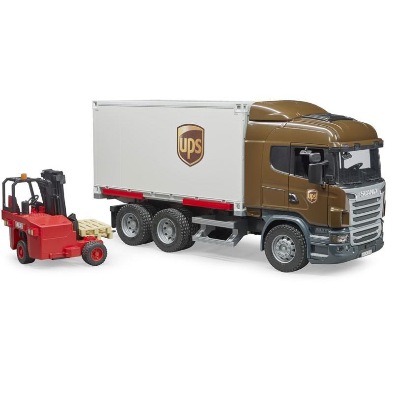 BRUDER  SCANIA R-SERIES CAMION UPS PORTACONTAINER CON MULETTO   3581
