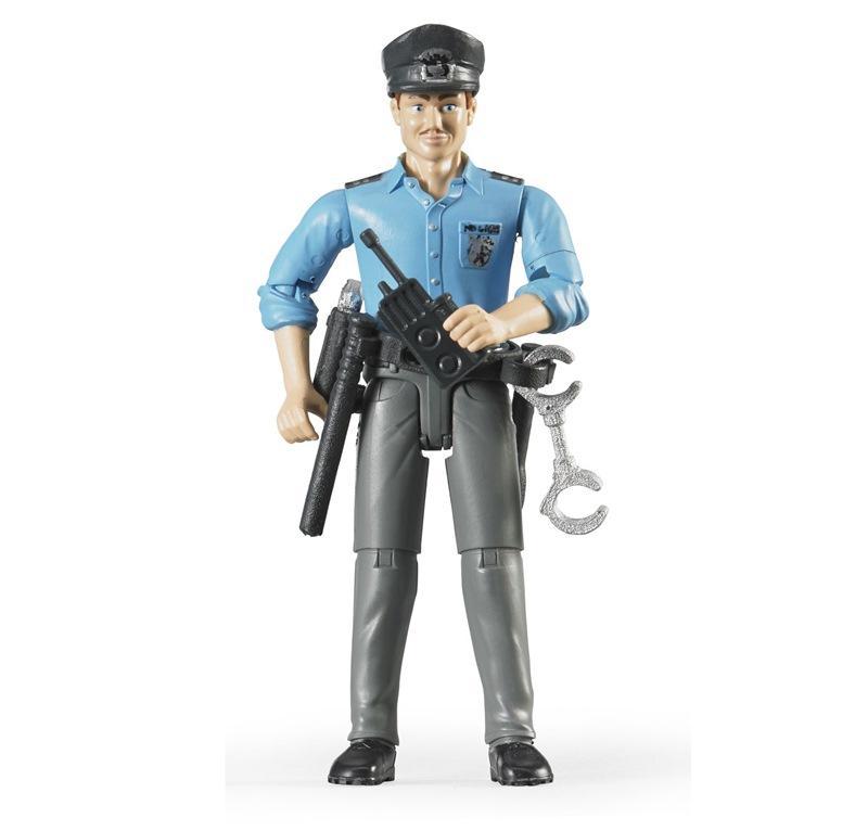 BRUDER POLIZIOTTO CON PELLE CHIARA ED ACCESSORI 60050