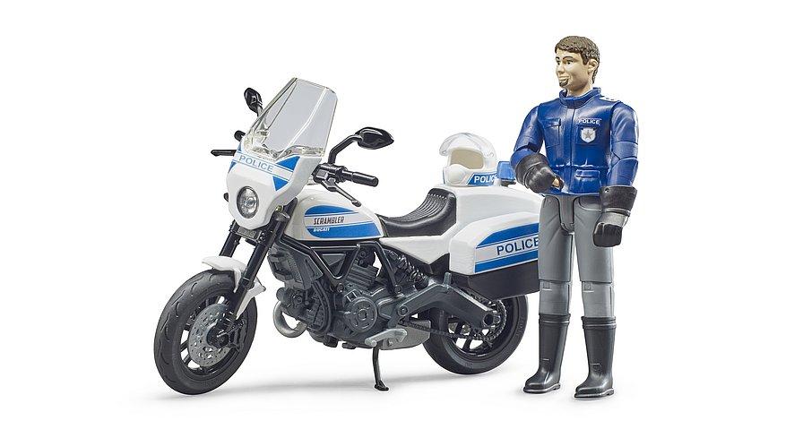 BRUDER  MOTOCICLETTA DELLA POLIZIA DUCATI SCRAMBLER 62731