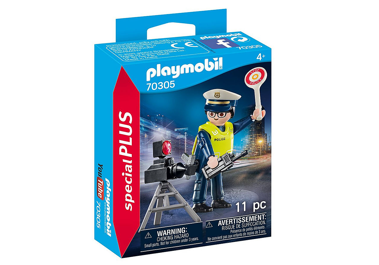 PLAYMOBIL SPECIAL PLUS POLIZIOTTO CON AUTOVELOX 70305