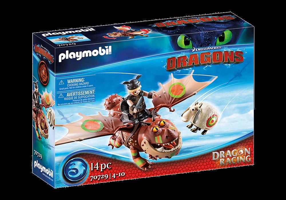 PLAYMOBIL  DRAGONS RACING: GAMBEDIPESCE E MUSCOLONE 70729