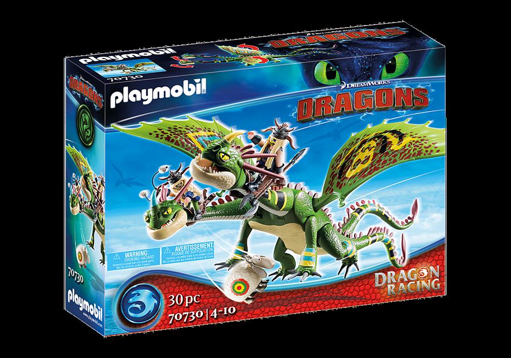 PLAYMOBIL  DRAGONS RACING: TESTABRUTA E TESTADITUFO CON VOMITO E RUTTO 70730