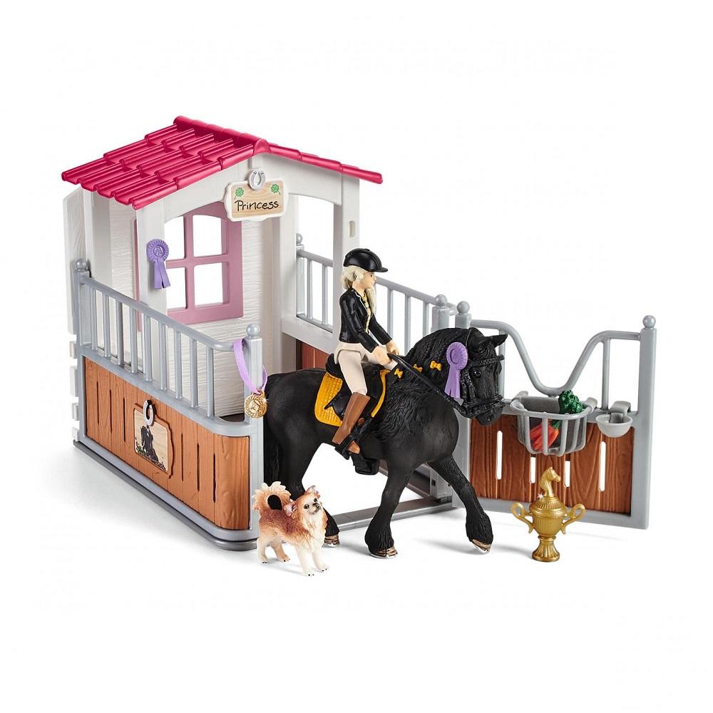 SCHLEICH HORSE CLUB BOX PER CAVALLI CON TORI E IL SUO CAVALLO PRINCIPESSA 42437