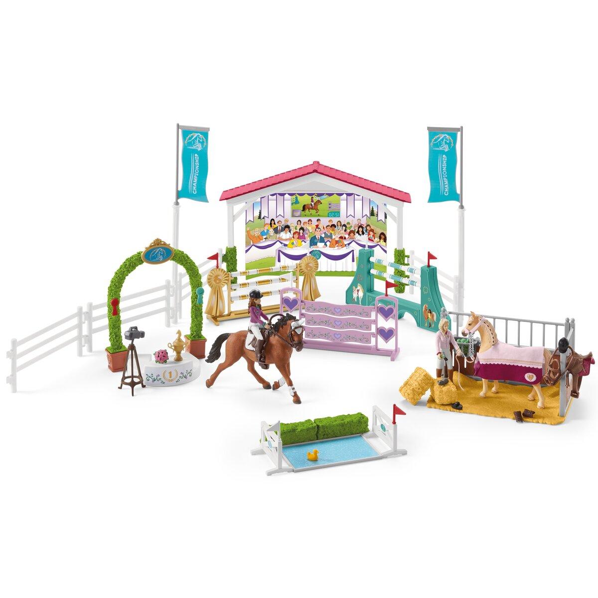 SCHLEICH HORSE CLUB GRANDE CONCORSO DI EQUITAZIONE CON SOFIA E LISA 42440