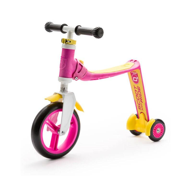 SCOOT AND RIDE HIGHWAYBABY+ PINK/YELLOW 96194