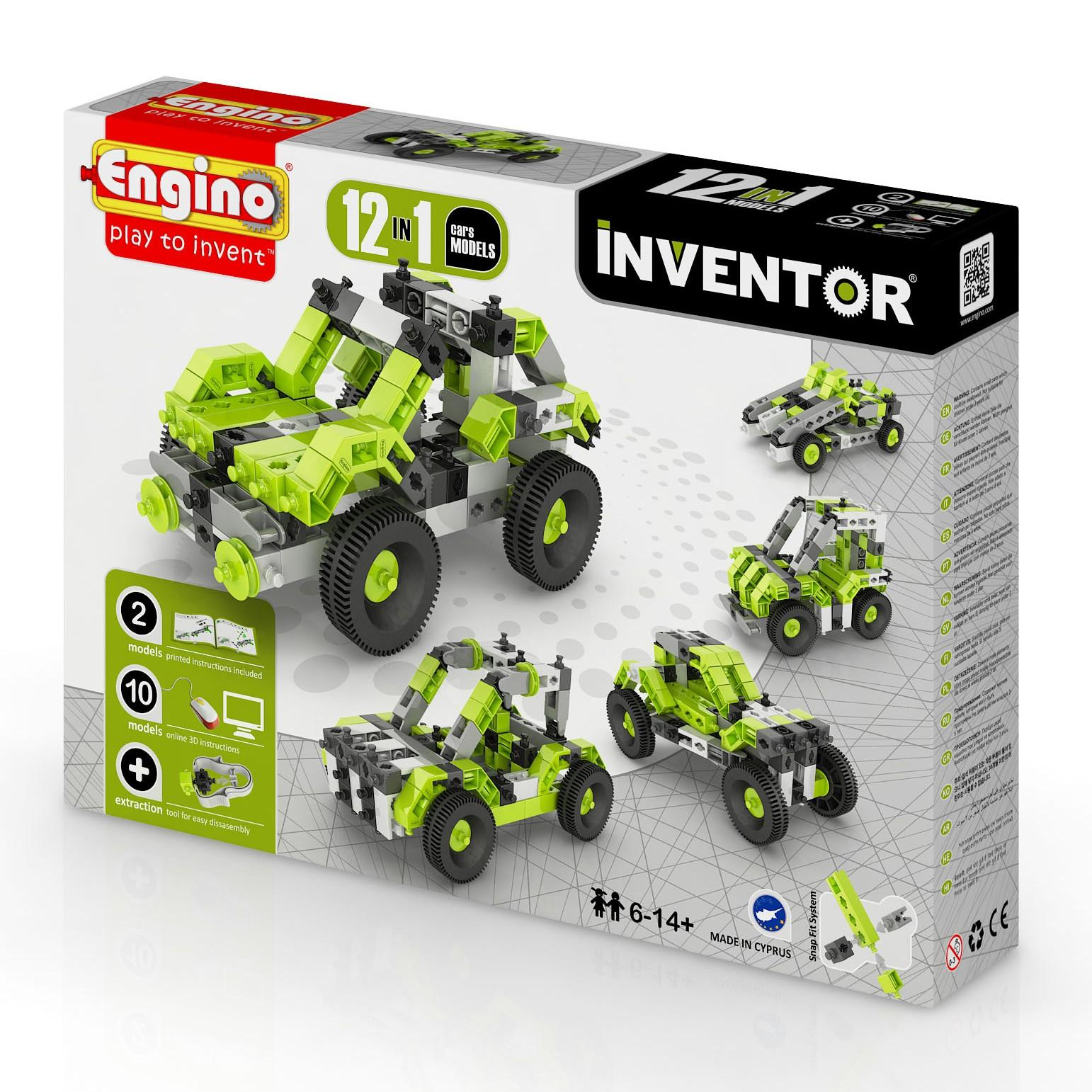 ENGINO INVENTOR 12 MODELS CARS  094158