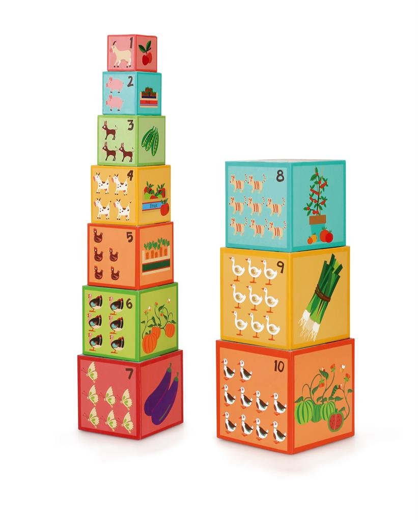SCRATCH BUILD&PLAY STACKING TOWER FARM