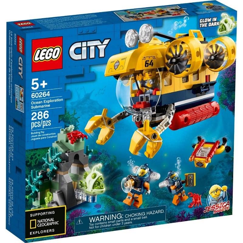 LEGO CITY SOTTOMARINO DA ESPLORAZIONE OCEANICA 60264
