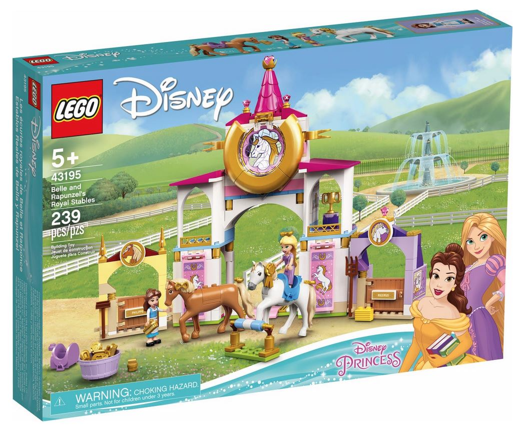 LEGO DISNEY PRINCESS LE SCUDERIE REALI DI BELLE E RAPUNZEL 43195