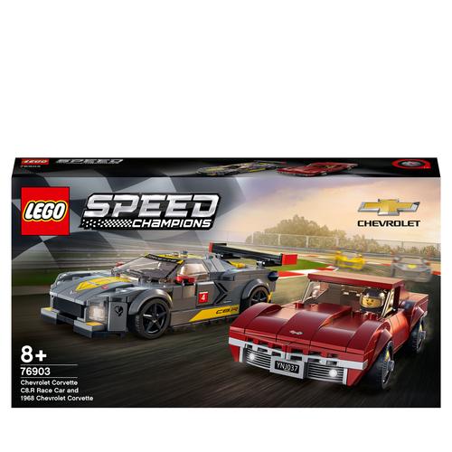 LEGO SPEED CHAMPIONS CHEVROLET CORVETTE C8.R E 1968 CHEVROLET CORVETTE 76903