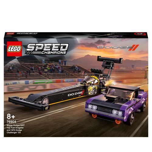 LEGO SPEED CHAMPIONS MOPAR DODGE//SRT TOP FUEL DRAGSTER E 1970 DODGE CHALLENGER T/A 76904