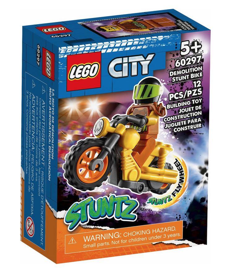 LEGO CITY STUNT BIKE DA DEMOLIZIONE 60297