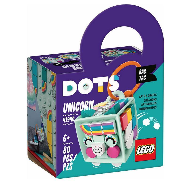 LEGO DOTS BAG TAG UNICORNO 41940