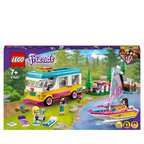 LEGO FRIENDS CAMPER VAN NELLA FORESTA E BARCA A VELA 41681
