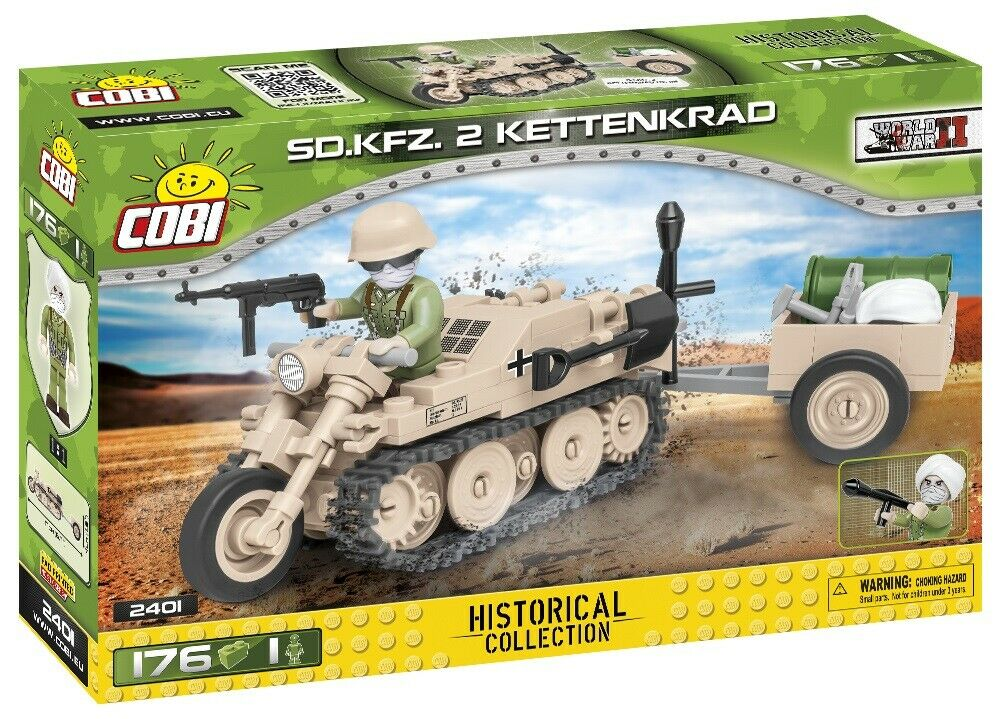 COBI MOTOCINGOLATO SD.KFZ.2 KETTENKRAD WWII 2401