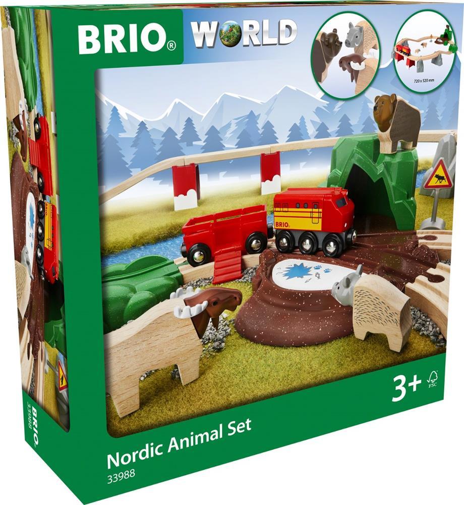 BRIO SET FERROVIARIO CON ANIMALI NORDICI 33988