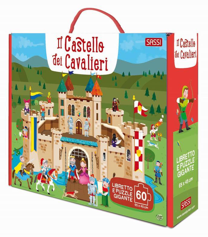 SASSI EDITORE IL CASTELLO DEI CAVALIERI - GIANT PUZZLE AND BOOK