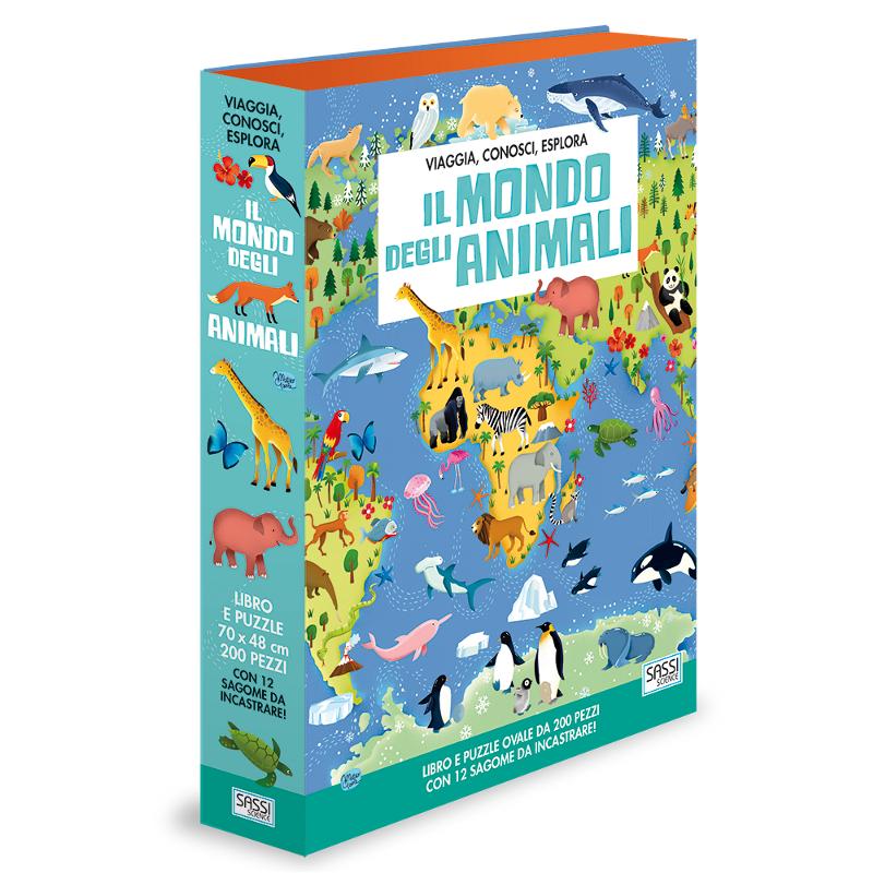 SASSI EDITORE VIAGGIA, CONOSCI, ESPLORA. IL MONDO DEGLI ANIMALI di M. Gaule, E. Tomè, I. Trevisan, V. Bonaguro